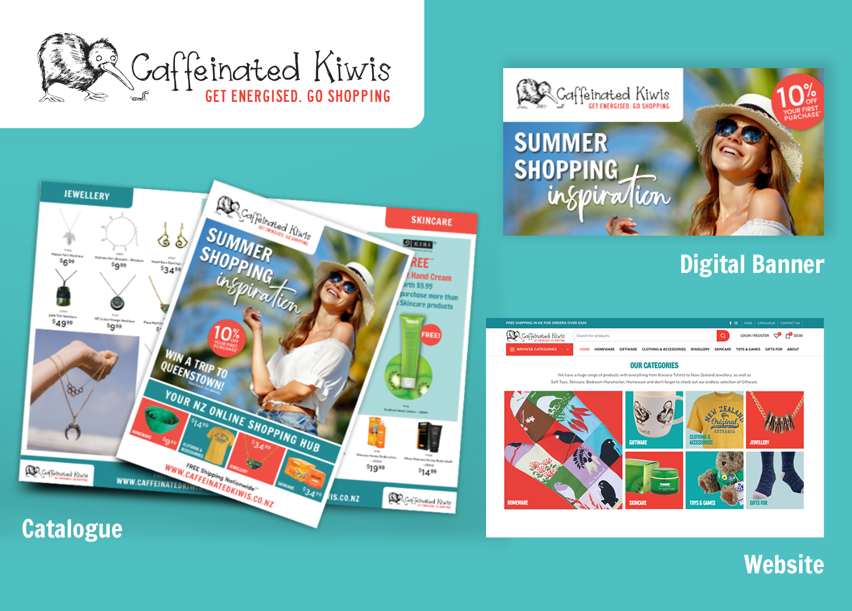 WE JUST LAUNCHED THIS NEW BRAND AND ECOMMERCE WEBSITE CAFFEINATED KIWIS TO THE WORLD!