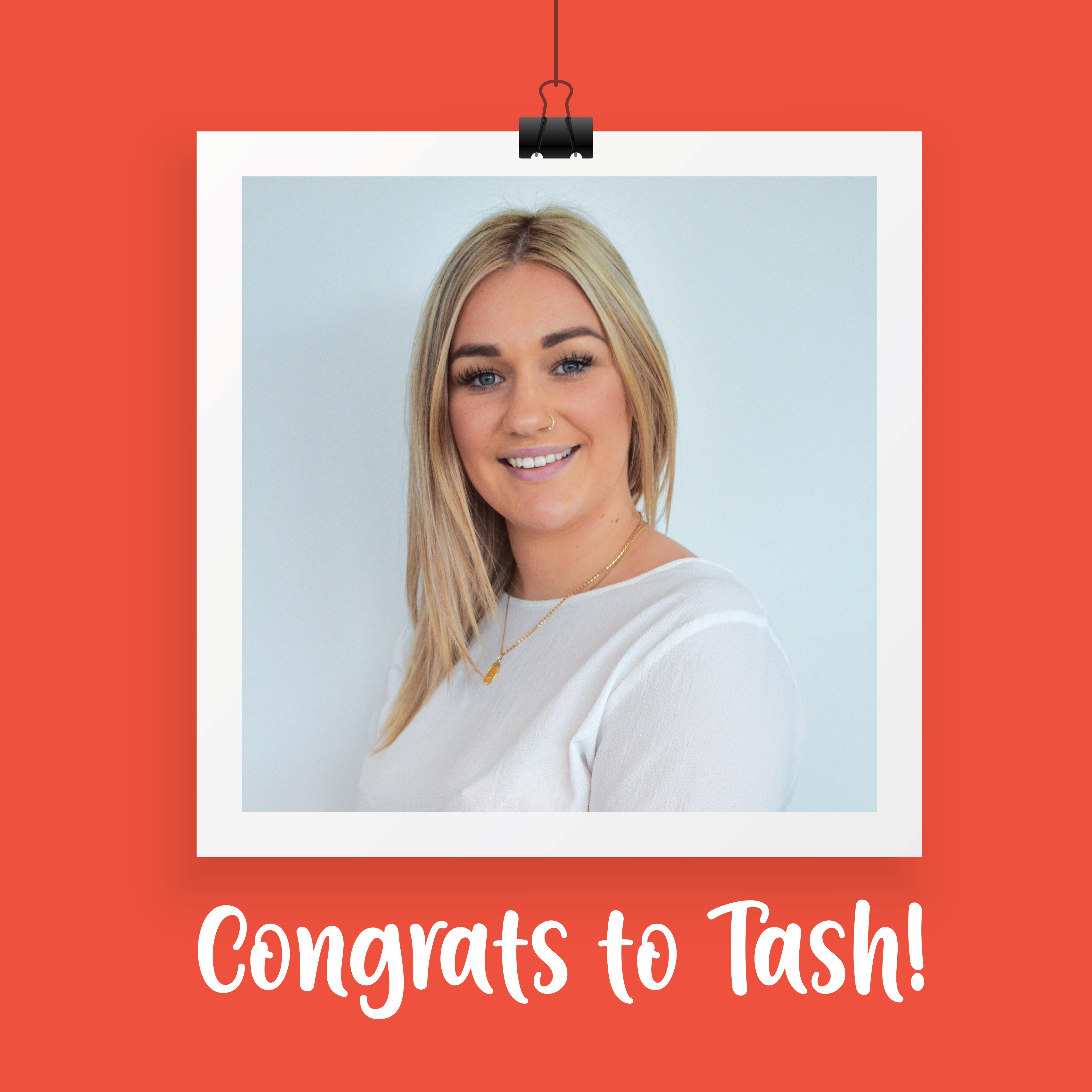 Congrats to Tash!